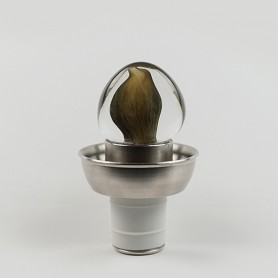 Klass internal no-drip with stainless steel base and blown glass